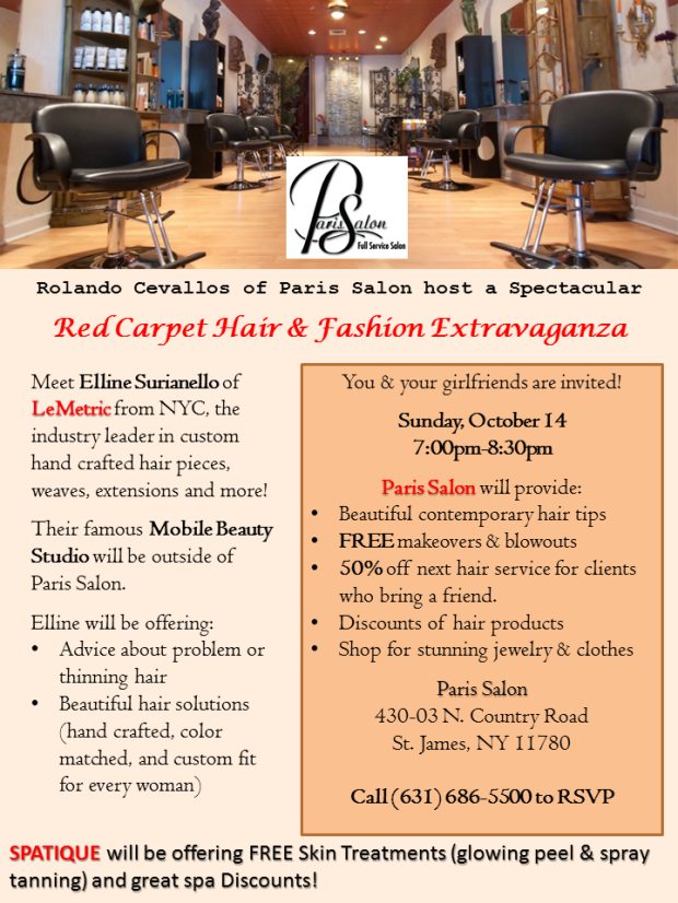 LeMetric beauty event at Paris Salon in Long Island