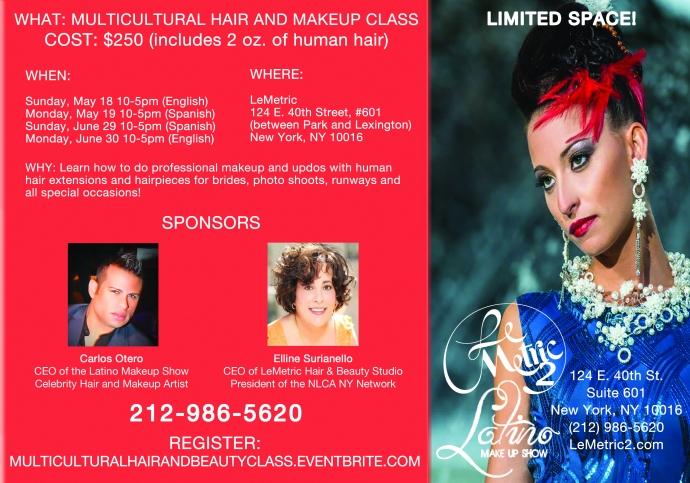 Hair and Beauty Class Flyer