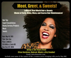 Meet, Greet, & Sweets Flyer