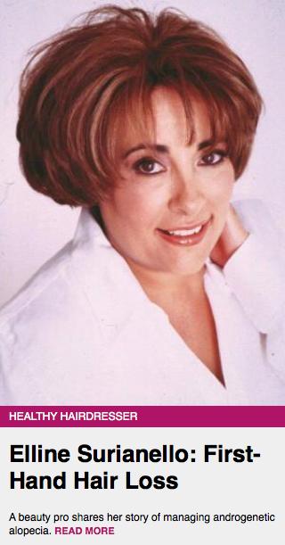 modern salon, elline surianello, healthy hairdresser, hair loss